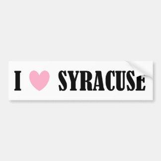 I Love Syracuse Bumper Sticker