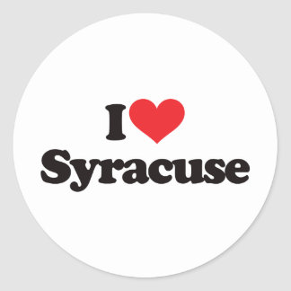 I Love Syracuse Classic Round Sticker