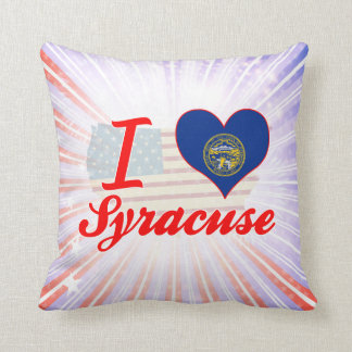 I Love Syracuse, Nebraska Throw Pillow