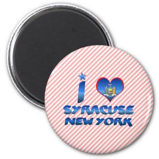I love Syracuse, New York 2 Inch Round Magnet