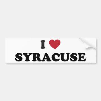 I Love Syracuse New York Car Bumper Sticker