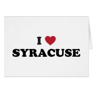 I Love Syracuse New York Card