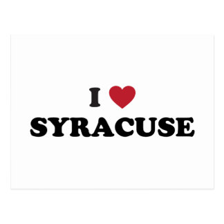 I Love Syracuse New York Postcard