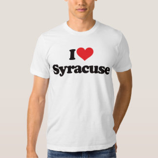 I Love Syracuse T Shirt