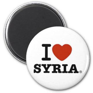I Love Syria 2 Inch Round Magnet