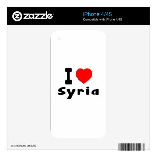 I Love Syria. Skin For iPhone 4S