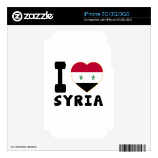 I Love Syria Skins For iPhone 2G