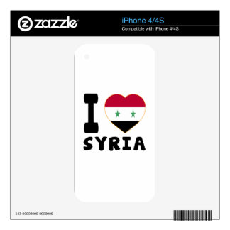 I Love Syria Decals For iPhone 4