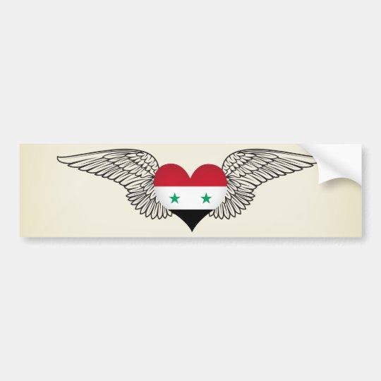 I Love Syria -wings Bumper Sticker