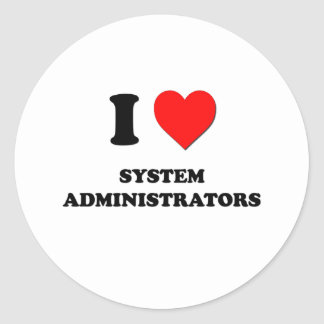 I Love System Administrators Sticker