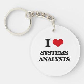 I love Systems Analysts Keychain