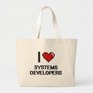 I love Systems Developers Jumbo Tote Bag