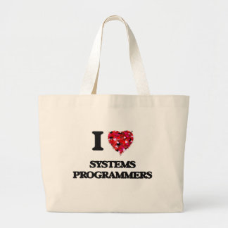 I love Systems Programmers Jumbo Tote Bag