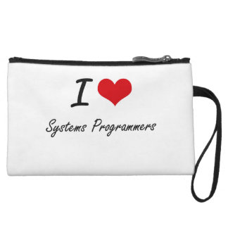 I love Systems Programmers Wristlet Clutch