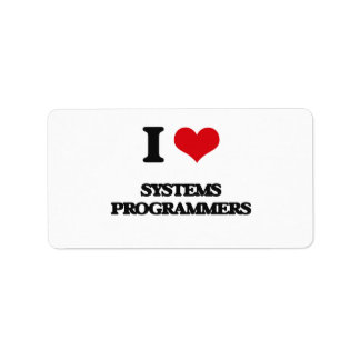 I love Systems Programmers Labels
