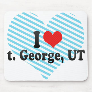 I Love t. George, UT Mouse Pad