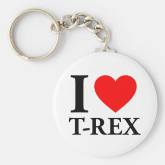 I Love T - Rex Keychain