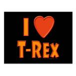 I Love T-Rex Tyrannosaurus Rex Dinosaur Lovers Postcard