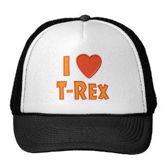 I Love T-Rex Tyrannosaurus Rex Dinosaur Lovers Trucker Hat