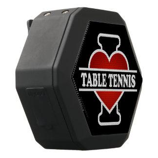 I Love Table Tennis Black Bluetooth Speaker