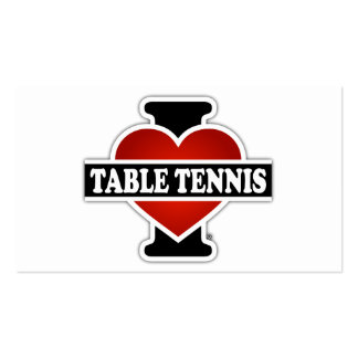 I Love Table Tennis Double-Sided Standard Business Cards (Pack Of 100)