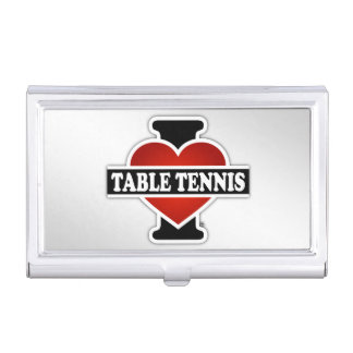 I Love Table Tennis Case For Business Cards