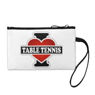 I Love Table Tennis Change Purse