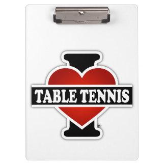 I Love Table Tennis Clipboard