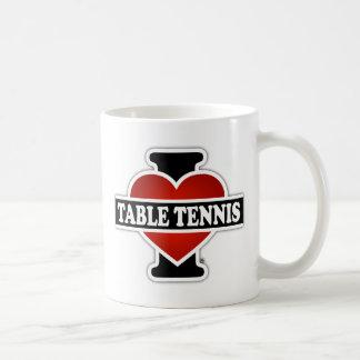 I Love Table Tennis Coffee Mug