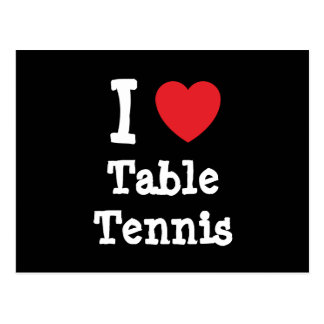 I love Table Tennis heart custom personalized Postcard