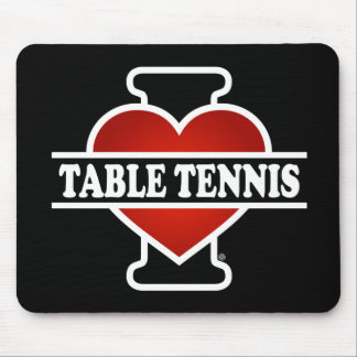 I Love Table Tennis Mouse Pad