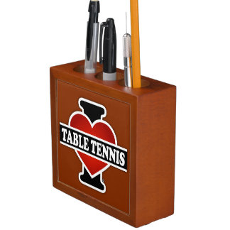 I Love Table Tennis Pencil/Pen Holder