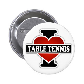 I Love Table Tennis Pinback Button