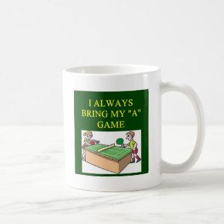 i love table  tennis player mug
