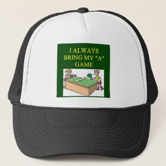 i love table  tennis player trucker hat