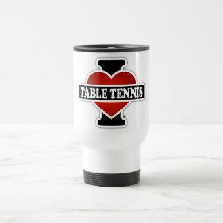 I Love Table Tennis Travel Mug