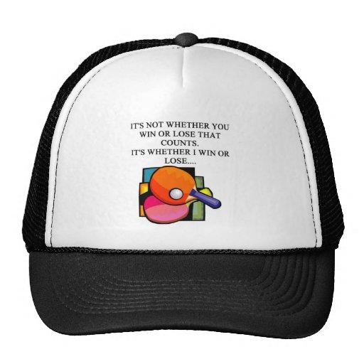 i love table tennis trucker hats