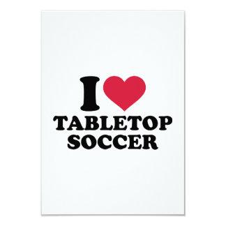 I love tabletop soccer 3.5x5 paper invitation card
