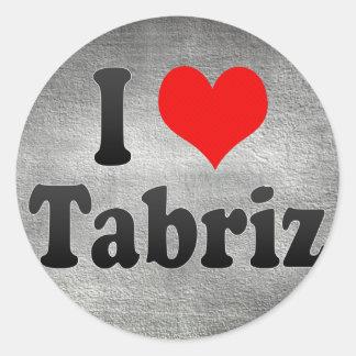 I Love Tabriz, Iran Classic Round Sticker