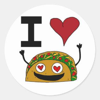 I Love Taco Stickers