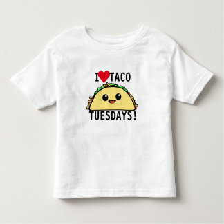 I Love Taco Tuesdays Toddler T-shirt