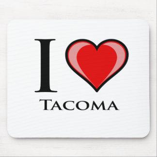 I Love Tacoma Mouse Pads