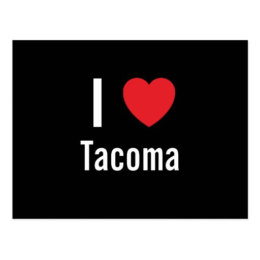I love Tacoma Postcard