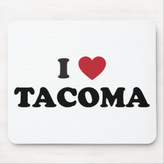 I Love Tacoma Washington Mouse Pads