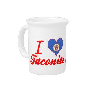 I Love Taconite Minnesota Pitcher