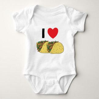 I Love Tacos Baby Baby Bodysuit