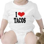 I Love Tacos Baby Bodysuits