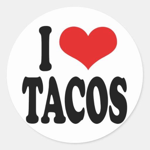 I Love Tacos Classic Round Sticker