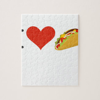 I Love Tacos For Taco Lovers Jigsaw Puzzle