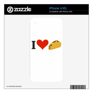I Love Tacos For Taco Lovers Skin For The iPhone 4S